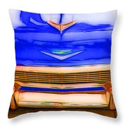 1956 Chevy - Blue Throw Pillow