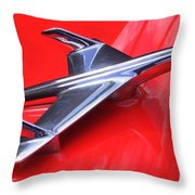 1956 Chevy Hood Ornament Throw Pillow