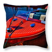 1956 Chris-craft Capri Classic Runabout Throw Pillow