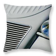 1956 Citroen 2cv Grille -0081c Throw Pillow
