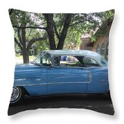 1956 Classic Cadillac Left View Throw Pillow