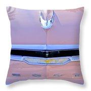 1956 Desoto Fireflite Sportsman Hardtop Hood Ornament Throw Pillow