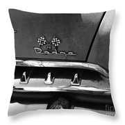 1956 Dodge 500 Series Photo 2 Throw Pillow by Anna Villarreal Garbis