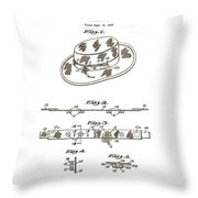 1956 Fisherman's Hat Patent Throw Pillow