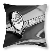 1956 Ford F-100 Pickup Truck Emblem Throw Pillow