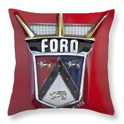 1956 Ford Fairlane Emblem Throw Pillow