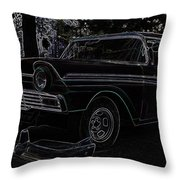 1956 Ford Neon Coupe Throw Pillow
