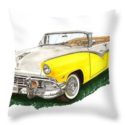 Ford Sunliner Convertible Throw Pillow