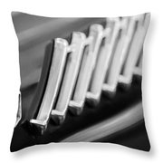 1956 Ford Thunderbird Emblem -278bw Throw Pillow