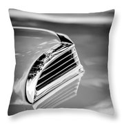 1956 Ford Thunderbird Hood Scoop -287bw Throw Pillow