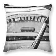 1956 Ford Thunderbird Steering Wheel -260bw Throw Pillow