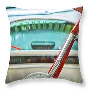 1956 Ford Thunderbird Steering Wheel -260c Throw Pillow
