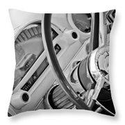 1956 Ford Thunderbird Steering Wheel -322bw Throw Pillow