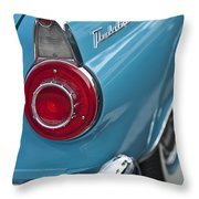1956 Ford Thunderbird Taillight And Emblem Throw Pillow