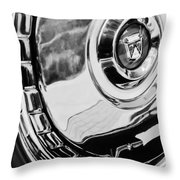 1956 Ford Thunderbird Wheel Emblem -232bw Throw Pillow