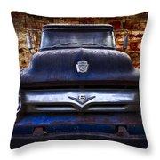 1956 Ford V8 Throw Pillow