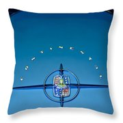 1956 Lincoln Continental Mark II Emblem Throw Pillow