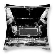 1956 Midnight Black Chevy Throw Pillow