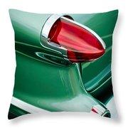 1956 Oldsmobile 98 Taillight Throw Pillow