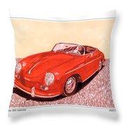 1956 Porsche 356 Cabriolet Throw Pillow