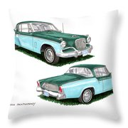 1956 Studebaker Coming And Going Throw Pillow