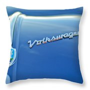 1956 Volkswagen Vw Bug Hood Emblem Throw Pillow