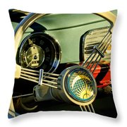 1956 Volkswagen Vw Bug Steering Wheel 2 Throw Pillow