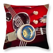 1956 Volkswagen Vw Karmann Ghia Coupe Steering Wheel 2 Throw Pillow