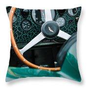 1957 Aston Martin Dbr2 Steering Wheel Throw Pillow