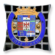 1957 Aston Martin Mk IIi Prototype Emblem Throw Pillow