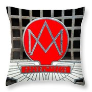 1957 Aston Martin Owner's Club Emblem Throw Pillow
