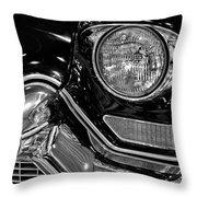 1957 Cadillac Coupe De Ville Headlight Throw Pillow