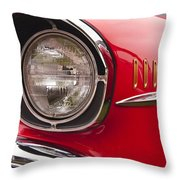 1957 Chevrolet Bel Air Headlight Throw Pillow