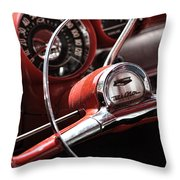 1957 Chevrolet Bel Air Steering Wheel Throw Pillow