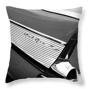 1957 Chevrolet Belair Convertible Taillight Emblem Throw Pillow
