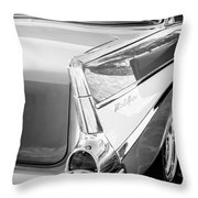 1957 Chevrolet Belair Coupe Tail Fin -019bw Throw Pillow