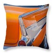 1957 Chevrolet Belair Taillight Emblem -019c Throw Pillow
