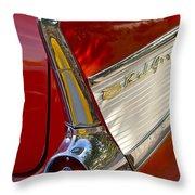 1957 Chevrolet Belair Taillight Throw Pillow