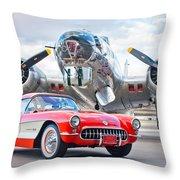 1957 Chevrolet Corvette Throw Pillow