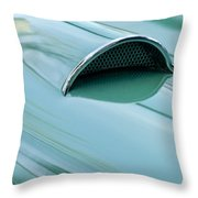 1957 Chevrolet Corvette Scoop 2 Throw Pillow