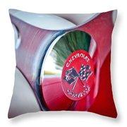 1957 Chevrolet Corvette Steering Wheel -294c Throw Pillow