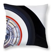 1957 Chevrolet Corvette Wheel Throw Pillow