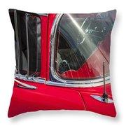 1957 Chevy Bel Air Chrome Throw Pillow