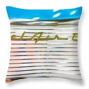 1957 Chevy Bel Air Emblem Throw Pillow