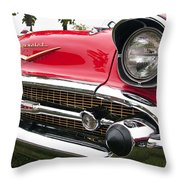 1957 Chevy Bel Air Front End Throw Pillow