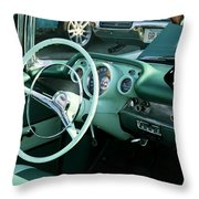 1957 Chevy Bel Air Green Interior Dash Throw Pillow