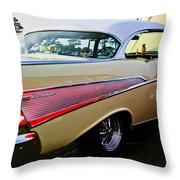 1957 Chevy Bel Air Yellow Side View  Throw Pillow