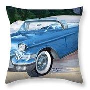 1957 Chevy Convertible Throw Pillow