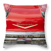 1957 Chevy Front End Throw Pillow
