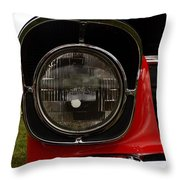 Old Car Headlight Throw Pillow